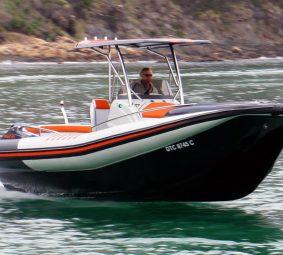 Man Operating RIB - RIB Boat - Hysucat
